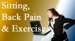 Moses Chiropractic urges less sitting and more exercising to combat back pain and other pain issues.