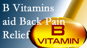 Moses Chiropractic may include B vitamins in the West Palm Beach chiropractic treatment plan of back pain sufferers.