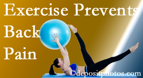 Moses Chiropractic encourages West Palm Beach back pain prevention with exercise.