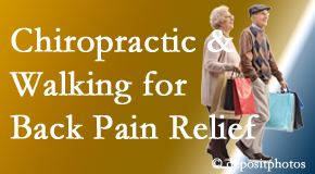 Moses Chiropractic encourages walking for back pain relief in combination with chiropractic treatment to maximize distance walked.
